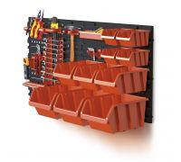 Zestaw kuwet, pojemników na narzędzia - 10 kuwet + tablica + uchwyty - NTBNP4