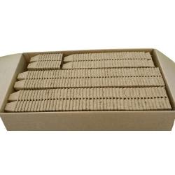 Kwadratowe doniczki torfowe - 6 x 6 cm - 12 sztuk