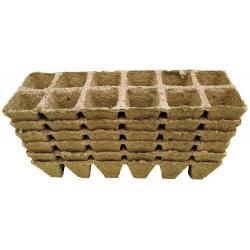 Kwadratowe doniczki torfowe - 4 x 5 cm - 72 sztuki