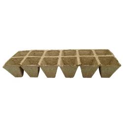 Kwadratowe doniczki torfowe - 5 x 5 cm - 60 sztuk