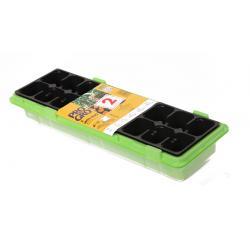 Miniszklarenka zielona 47 x 15 cm - 18 doniczek - druga miniszklarenka GRATIS