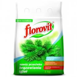 Nawóz do iglaków - przeciwdziałanie brązowieniu igieł - Florovit - 1 kg