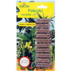 """Specjalne pałeczki nawozowe """"O"""" - do roślin osłabionych przez szkodniki - Zielony Dom - 20 sztuk"""