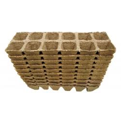 Kwadratowe doniczki torfowe - 4 x 5 cm - 240 sztuk