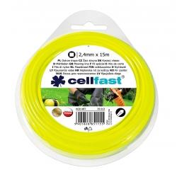 Linka tnąca do podkaszarki, żyłka tnąca - 2,4mm, 15m - kwadratowa - CELLFAST