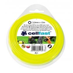 Linka tnąca do podkaszarki, żyłka tnąca - 3,0mm, 15m - kwadratowa - CELLFAST