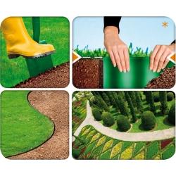 Ciemnozielone obrzeże trawnikowe - 20 cm, 9 m - Cellfast