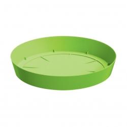 Okrągła, lekka doniczka Lofly z podstawką - 13,5 cm - limonka