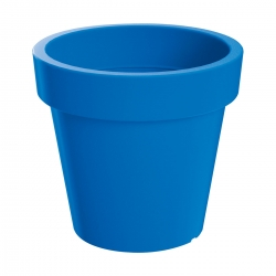 Lekka doniczka okrągła Lofly - 13,5 cm - niebieska