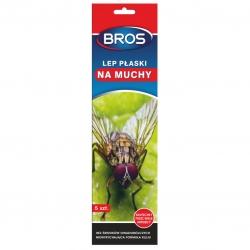 Lep płaski na muchy i inne owady latające - działa 12 miesięcy - Bros - 5 szt.