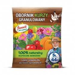 Obornik kurzy granulowany - 100% ekologiczny - Florovit - 5 litrów