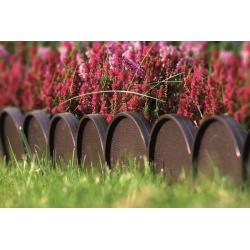 Obrzeże trawnikowe Garden Line - krawężnik wokół trawnika - 10 m - brązowy