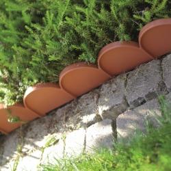 Obrzeże trawnikowe Garden Line - krawężnik wokół trawnika - 10 m - terakota