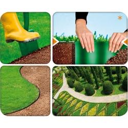 Brązowe obrzeże trawnikowe - 15cm, 9m - CELLFAST