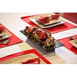 Ikebana prostokątna - naczynie do kompozycji florystycznych - 39 x 17 cm - kolor czarny