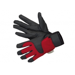 Wodoodporne rękawice ogrodnicze Drip - czerwono-czarne - lekkie i wygodne