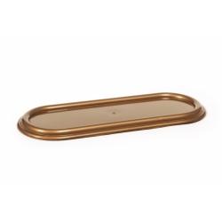 Podstawka pod znicze - zniczówka owalna - 40 cm - złoty kolor