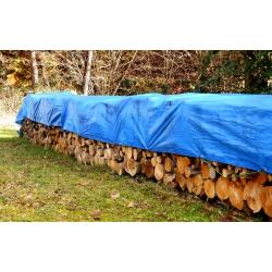 Plandeka - 4 x 6 m - niebieska