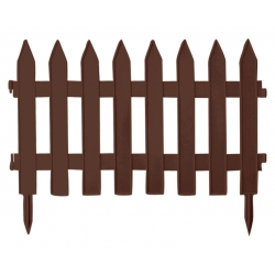 Płotek ogrodowy, wys. 40 cm - 3,5 m - brązowy