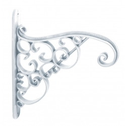 Wieszak ozdobny do doniczek wiszących lub koszyka z kwiatami - Akant - biały