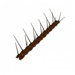 Listwa z kolcami przeciw ptakom - brązowa - 2 x 0,5m