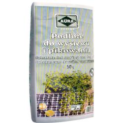 Podłoże do wysiewu nasion - 50 litrów - Aura - wyroby dla profesjonalistów