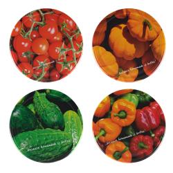 Zakrętki do słoików (gwint 6) - warzywa mix - śr. 82 mm - 10 szt.