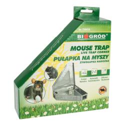Żywołapka metalowa narożna na myszy
