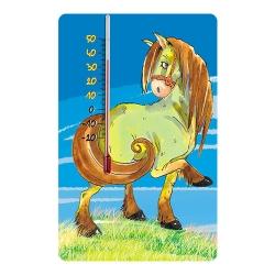 Termometr pokojowy samoprzylepny do pokoju dziecięcego - wzór koń