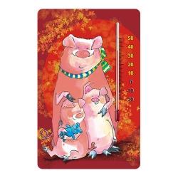 Termometr pokojowy samoprzylepny do pokoju dziecięcego - wzór świnki