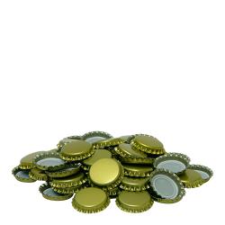 Kapsle do butelek - złote - śr. 26 mm - 100 szt.