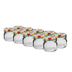 Małe ozdobne słoiczki 30 ml z kolorową zakrętką - śr. 43 mm - zestaw 10 sztuk