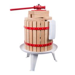 Prasa śrubowa z workiem nylonowym - do wyciskania soku z owoców - 12 litrów