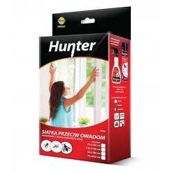 Siatka na drzwi przeciw owadom z taśmą samoprzylepną - czarna - 75 x 220 cm - Hunter