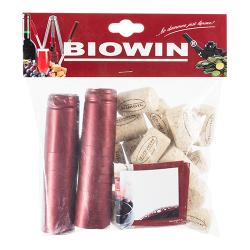 Zestaw do zakorkowania wina - korki, etykiety i kapturki - 20 szt.