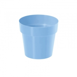 Doniczka okrągła prosta - 12 cm - niebieski dziecięcy