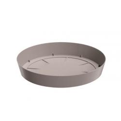 Lekka podstawka do doniczki Lofly - 10,5 cm - kamienny szary