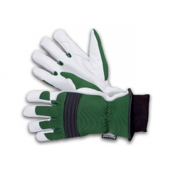 Rękawice ogrodnicze Celsius - zielono-białe - profesjonalne na zimę