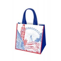 Torba na zakupy - Podróże Europy - Londyn - 34 x 36 x 22 cm