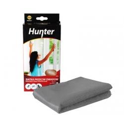 Siatka na okno przeciw owadom z taśmą samoprzylepną - szara - 130 x 150 cm - Hunter