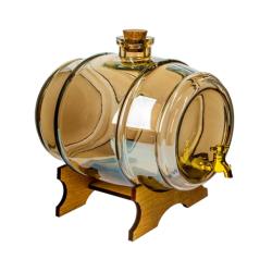 Beczułka na nalewki i inne napoje - Zdrówko - kolor bursztynowy - 2 litry