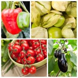 Warzywa psiankowate - zestaw 1 - 4 gatunki nasion