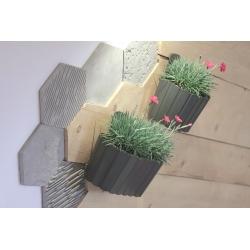 Doniczka naścienna Boardee Wall - 19,4 cm - kamienny szary