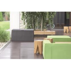 Skrzynia do ogrodu, na balkon lub taras - Boxe Board - 290 litrów - antracyt