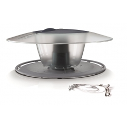 Karmnik dla ptaków z możliwością mocowania na trzonku - Birdyfeed Round - antracyt