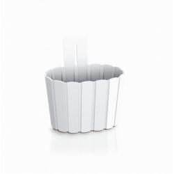 Doniczka naścienna Boardee Wall - 19,4 cm - biały