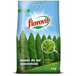 Nawóz do tui (żywotników) - szybki wzrost, intensywne wybarwienie - Florovit - 3 kg