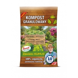 Kompost granulowany pochodzenia roślinnego - do upraw ekologicznych - Florovit - 10 l