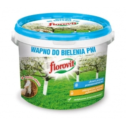 Wapno do bielenia pni drzew i krzewów + pędzel - Florovit - 1 kg