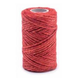 Sznurek jutowy - czerwony - 50g/25m